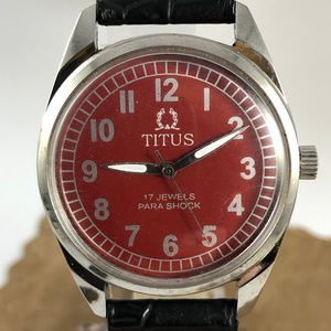 Vintage  Swiss Titus 17 Jewels Mechcainal Watch